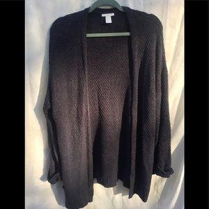 H&M Black knit cardigan sweater. Size xs/s